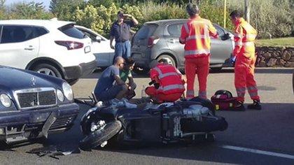 George Clooney fue hospitalizado tras un accidente con su moto en Cerdeña (Italia) (The Grosby Group)