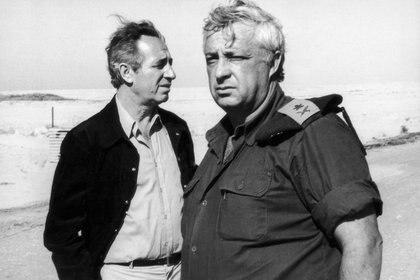 Con Ariel Sharon en Egipto en 1975