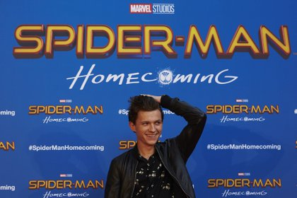 File image of actor Tom Holland during the presentation of the film 'Spiderman: Homecomming'.  EFE / Alejandro García / Archive