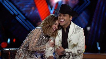"""Christian Nodal y Belinda se convirtieron en """"la pareja del momento"""" hace una semana (Foto: Instagram@lavoztvazteca)"""