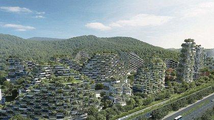 Liuzhou Forest City en China es uno de los objetivos mas ambiciosos destinados a la planificación urbana del municipio de Liuzhou (Stefano Boeri Architetti)
