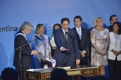 Nicolás Trotta, en la jura como ministro de Educación nacional (Foto: Gustavo Gavotti)