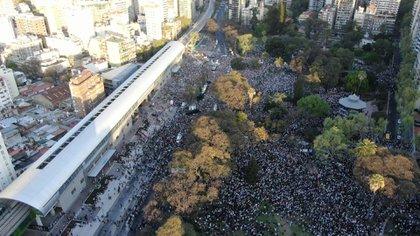 El masivo acto que Macri encabezó en Belgrano (Lihueel Althabe)