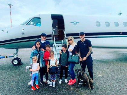 La familia ya se encuentra en París, donde vivirán este año para acompañar la carrera de Mauro Icardi