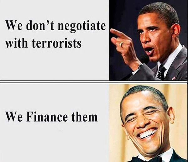 """Uno de los memes más celebrados de Bespalov. """"No negociamos con terroristas…los financiamos"""""""