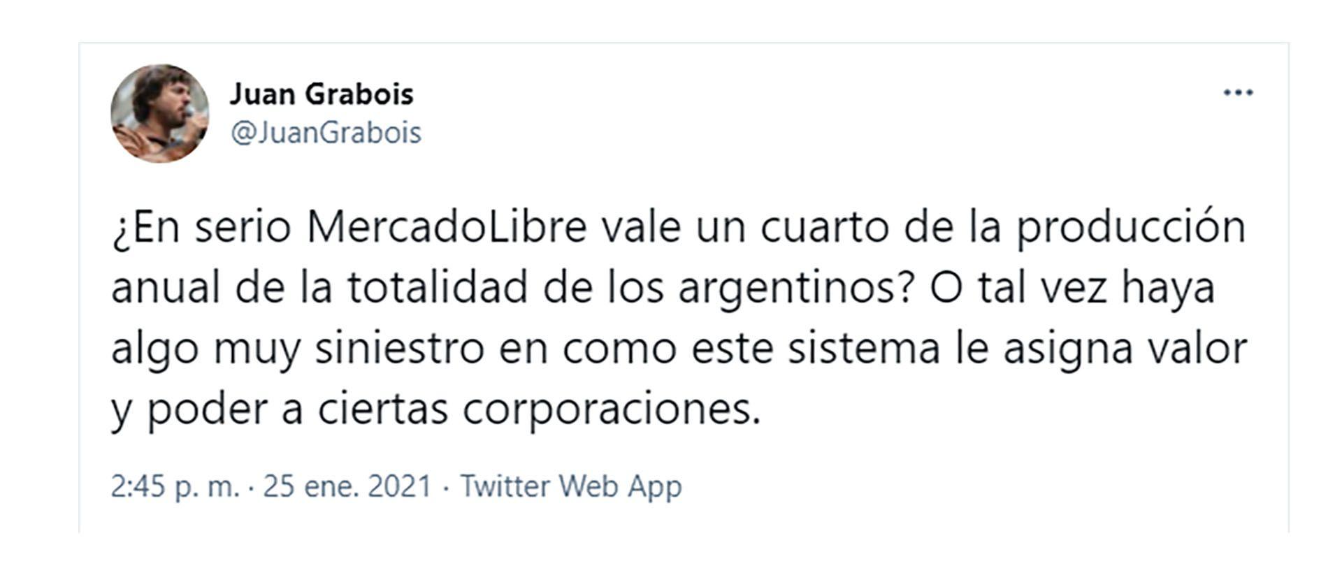 tweet de Grabois