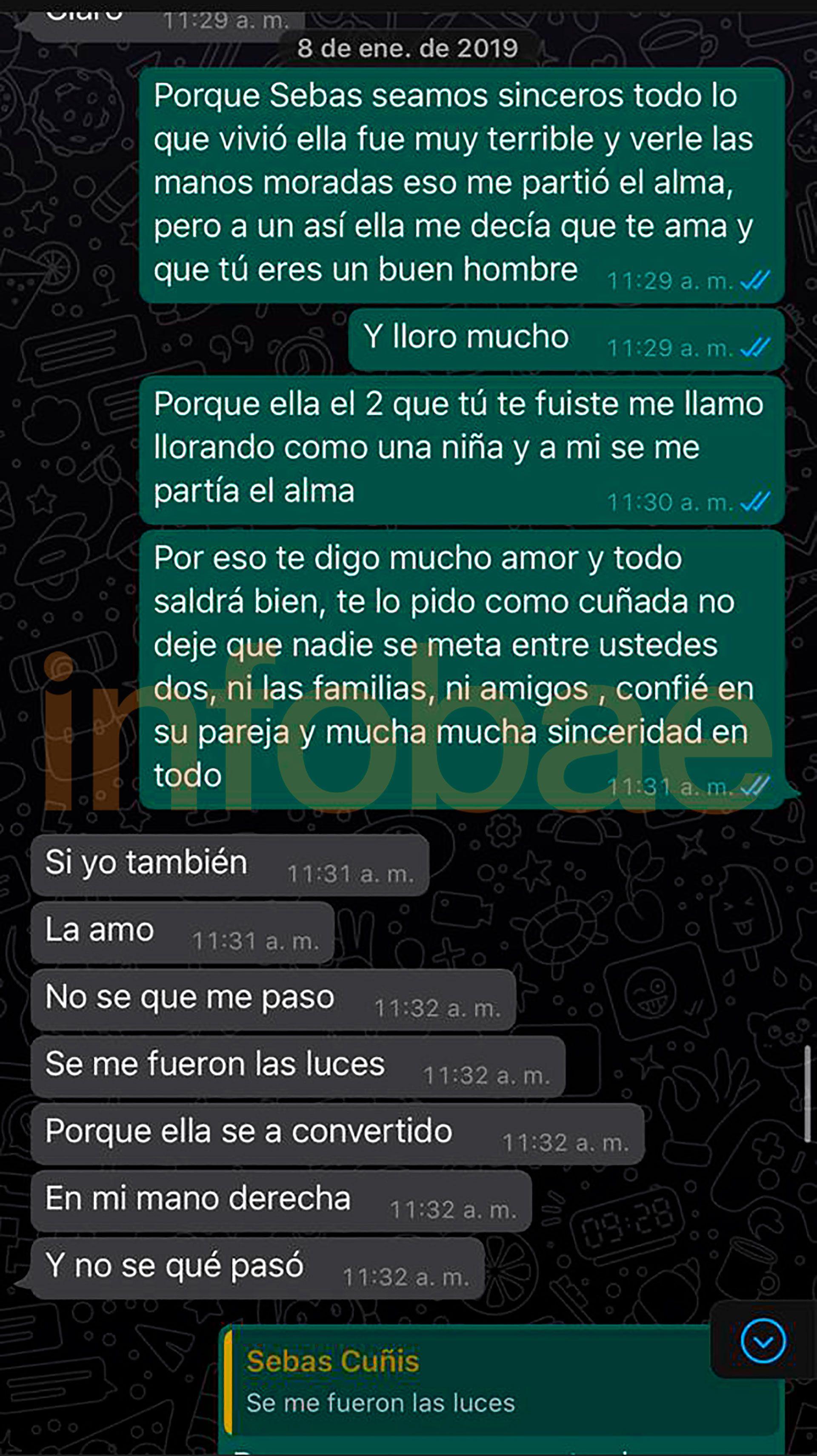 """""""La amo. Se me fueron las luces. No sé qué me pasó"""", dice Villa después de ser acusado de un ataque a Daniela Cortés en el chat presentado por Burlando"""