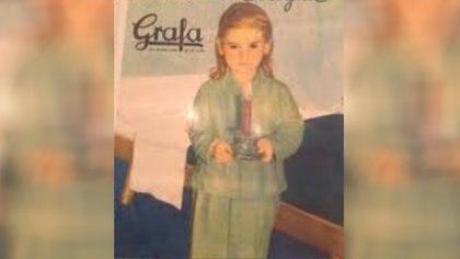 Soledad Silveyra en una de las publicidades que hizo en su infancia