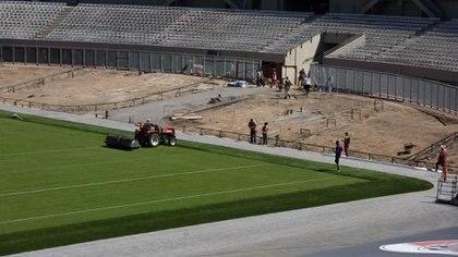 En la Etapa 2 de las obras se construirá un nuevo anillo donde se encontraba la pista de atletismo