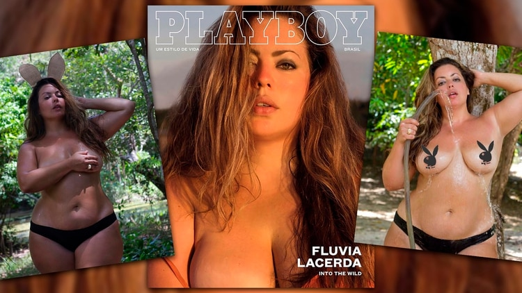 Fluvia Lacerda, la primera modelo plus size que posó desnuda para Playboy Brasil