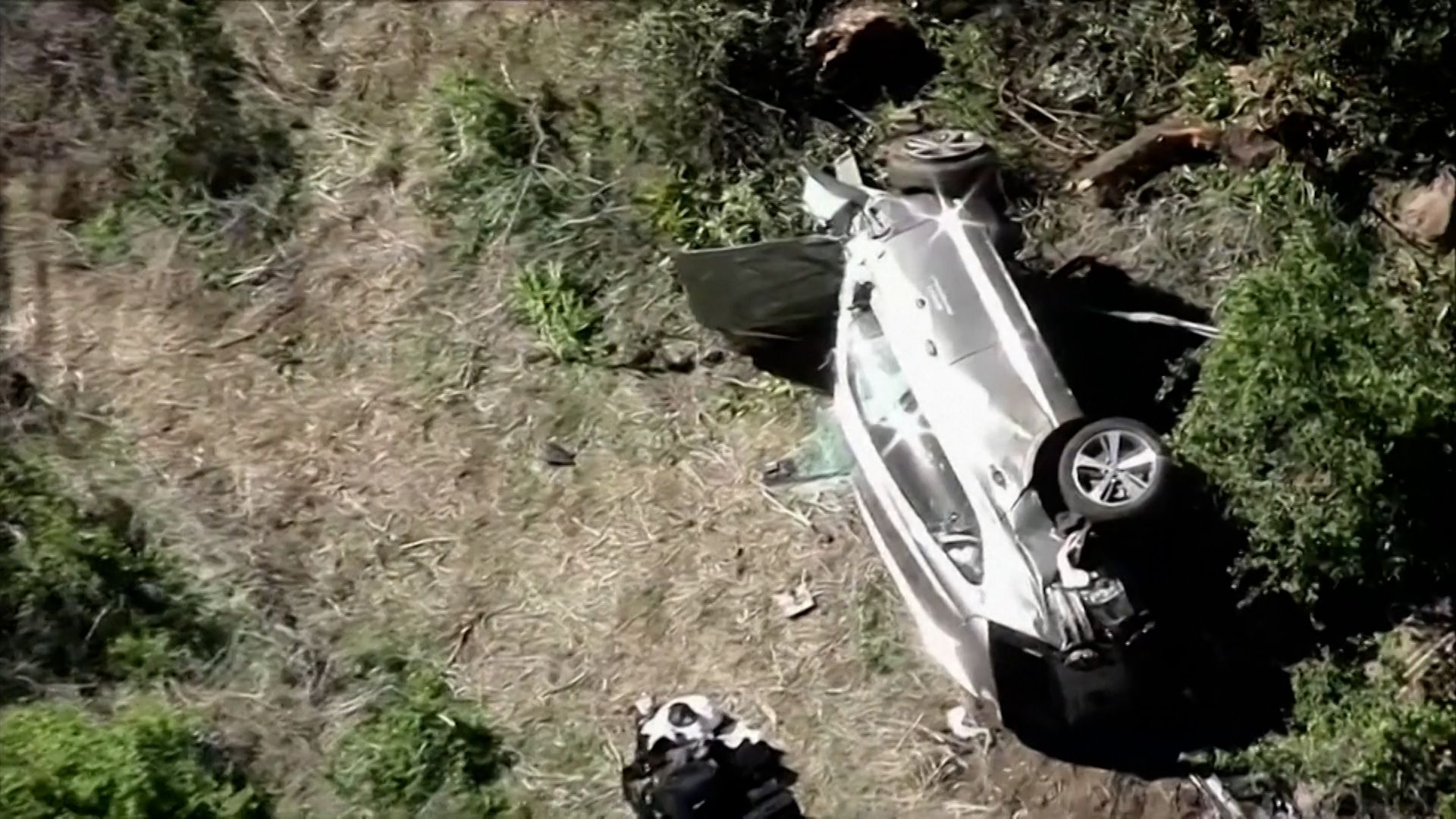 accidente tiger woods 1