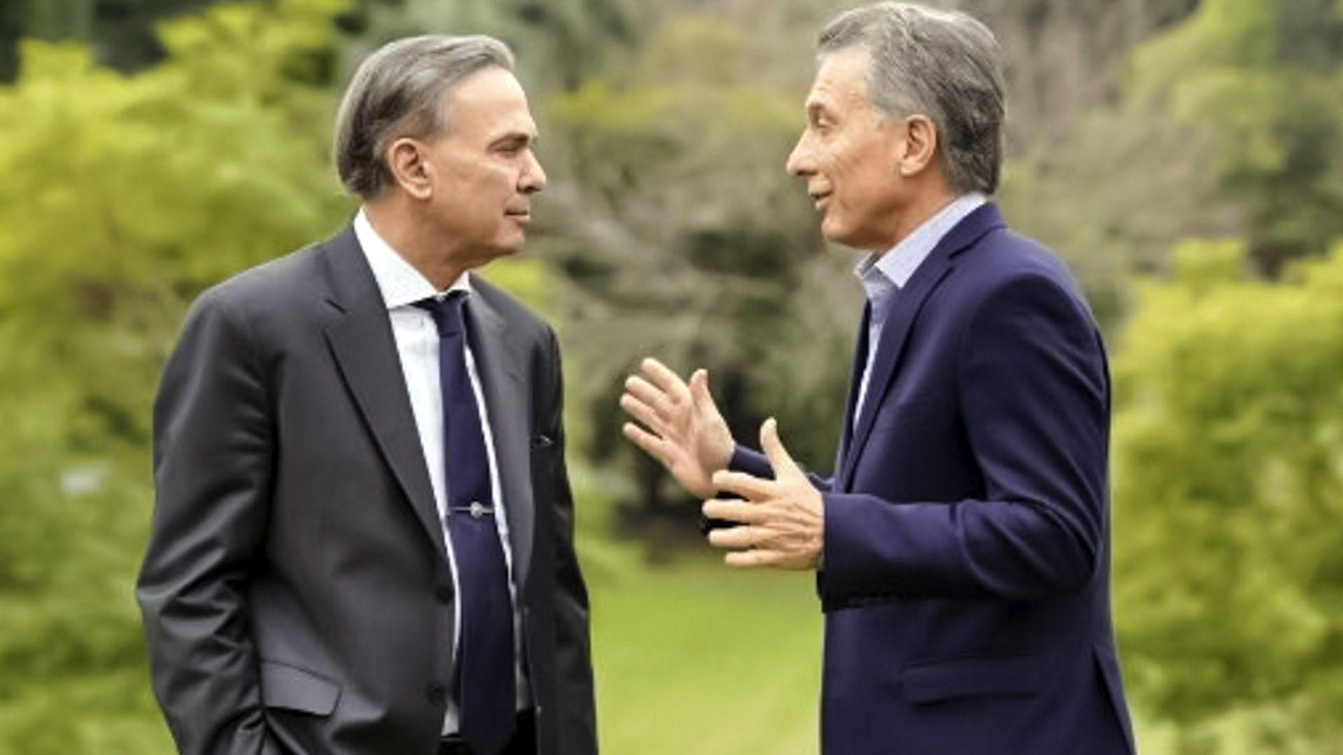 Macri y Pichetto, su primera foto oficial en los jardines de la quinta de Olivos