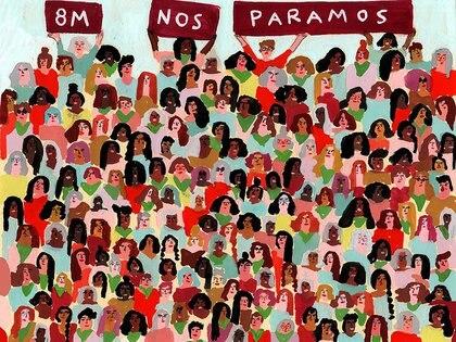 Ilustración de María Luque para el 8M