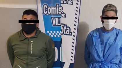 Urquiola y Comisso, los dos sospechosos detenidos.