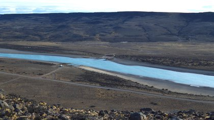 La imagen del Río Santa Cruz donde se construirán las dos represas