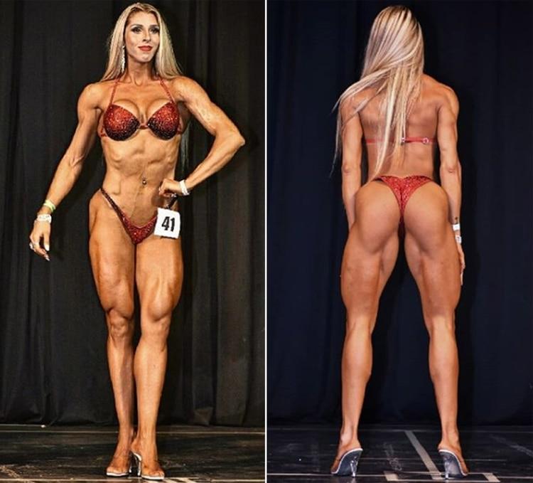 Daiana Fernandez, en una competencia