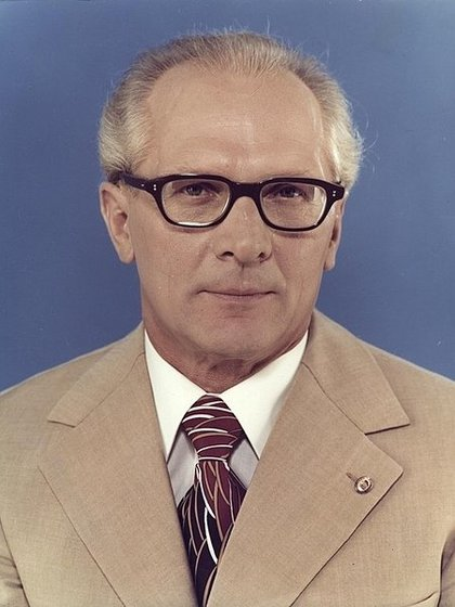 Erich Honecker, primer secretario del Partido Socialista Unificado de Alemania entre 1971 y 1989