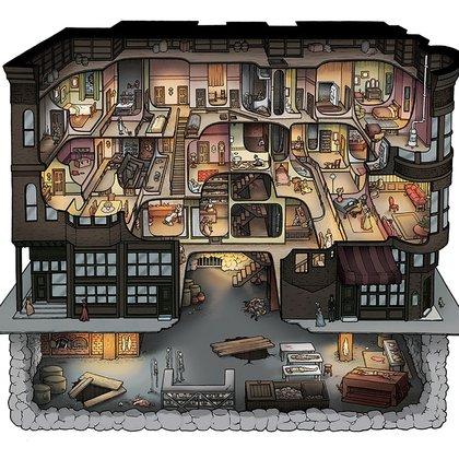 Los sótanos del castillo Holmes albergaban trampas y herramientas de tortura