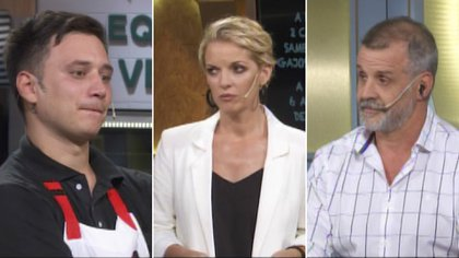 Nahuel, Carina Zampini y Christian Petersen