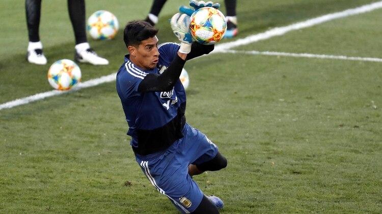 Sueño frustrado para Esteban Andrada, que no podrá jugar la Copa América por lesión (EFE/Juan Carlos Hidalgo)
