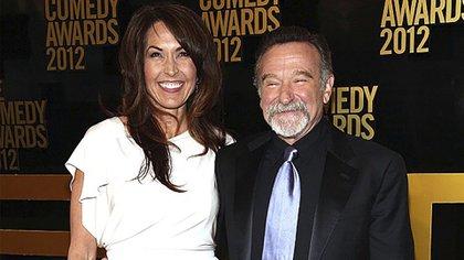 Robin Williams con su esposa Susan Schneider, con quien estaba casado desde 2011