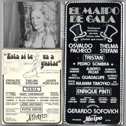 Algunas de las revistas donde actuó