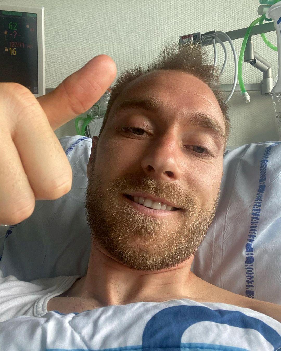 Christian Eriksen y la Federación Danesa de Fútbol llevaron tranquilidad al publicar una fotografía en las redes sociales (Foto: REUTERS)