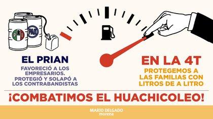 Imagen compartida por Mario Delgado, presidente nacional de MORENA, a través de su cuenta oficial de Twitter (Foto: Twitter/ @mario_delgado)