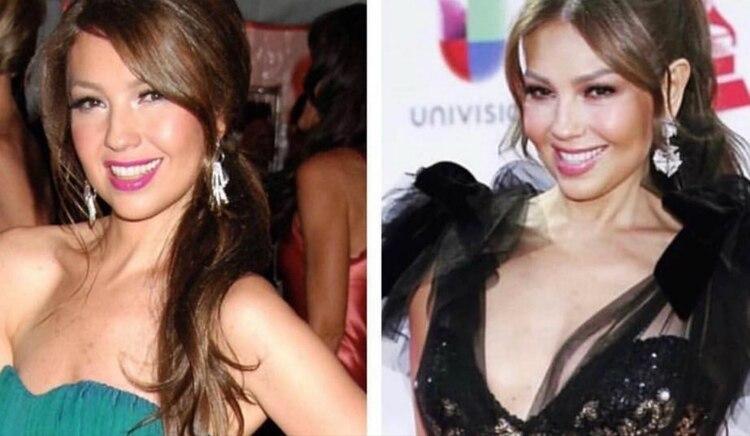 Thalía no ha cambiado mucho en una década (Instagram)