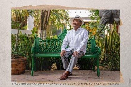 Armando Manzanero falleció el 28 de diciembre de 2020 por complicaciones derivadas de su infección de COVID-19 (Foto: Twitter@ChapoyPati)