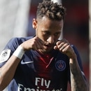 Nimes (France), 01/09/2018.- Neymar Jr. of Paris Saint Germain celebrates after scoring a goal during the French Ligue 1 soccer match between Nimes Olympique and Paris Saint Germain, in Nimes, southern France, 01 September 2018. (Francia) EFE/EPA/GUILLAUME HORCAJUELO