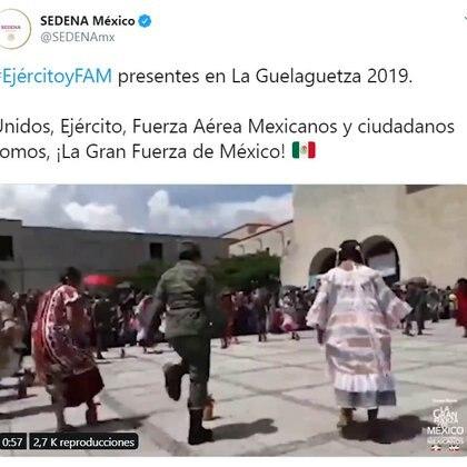 El video fue difundido por las redes sociales de la Sedena (Foto: Twitter)