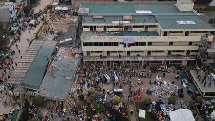 En febrero de este año, la ex directora del colegio Rébsamen aceptó su responsabilidad en la muerte de las 26 personas durante el sismo del 19 de septiembre del 2017 (Foto: AP Photo/Miguel Tovar)