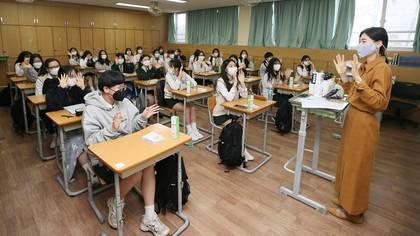 Escuelas reabren en Corea del Sur