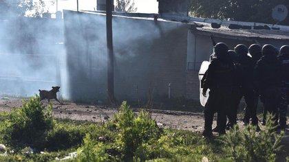 Oficiales de policía involucrados en la operación