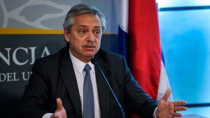 Alberto Fernández en la Casa Rosada