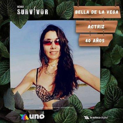 Bella de la Vega también fue seleccionada por su tribu, Halcones, como la más débil (Foto: captura de pantalla de Instagram @survivormexico)