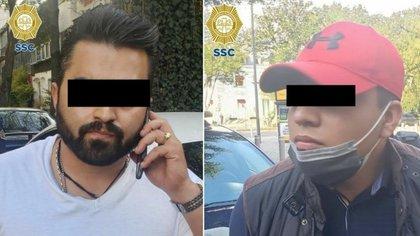 Fueron señalados como los posibles responsables del secuestro de un hombre, quien se encontraba en el asiento trasero de un vehículo color blanco (Foto: SSC)