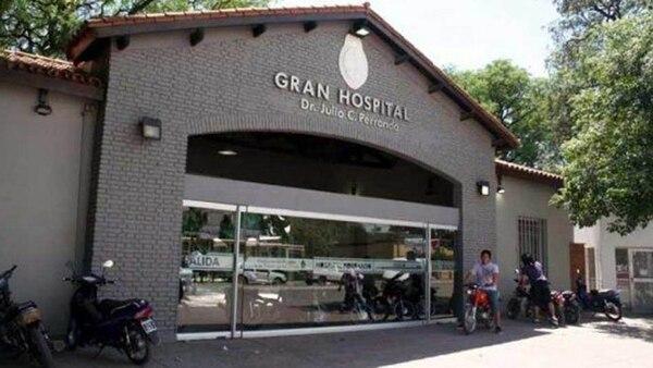 La fachada del Hospital Julio C. Perrondo