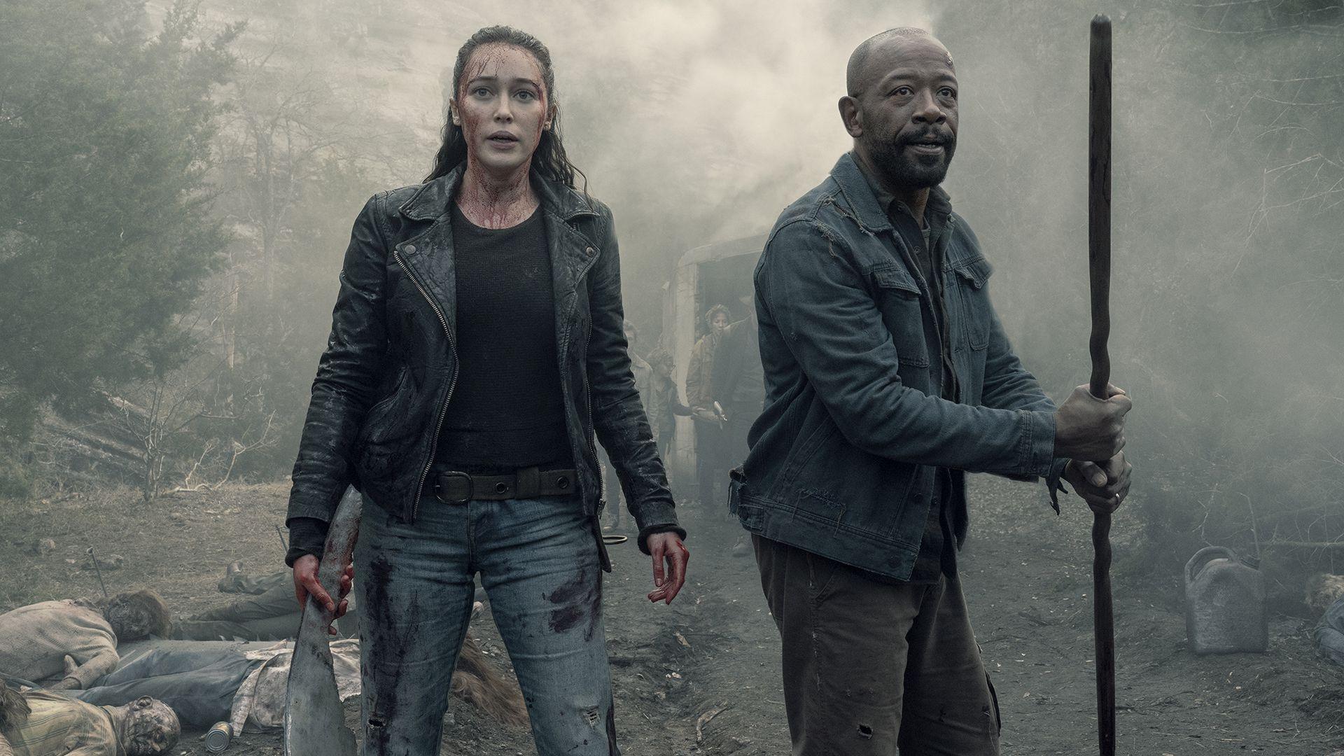 """Alicia Clark y Lennie James, las personalidades más fuertes de la quinta temporada de """"Fear The Walking Dead"""" (Foto: Ryan Green/AMC)"""