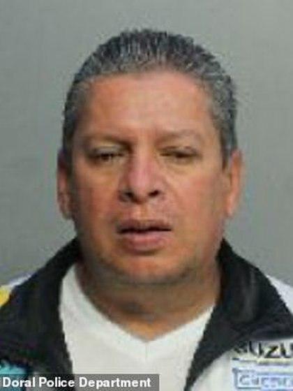 Imagen del capturado, Fredie Aguilar. Foto: Departamento de Policía de Doral
