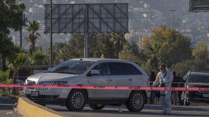 Los carriles del puerto fronterizo de Tijuana–San Diego se acordonaron por el homicidio de un hombre que se dirigía en una camioneta hacia California (Foto: Cuartoscuro)