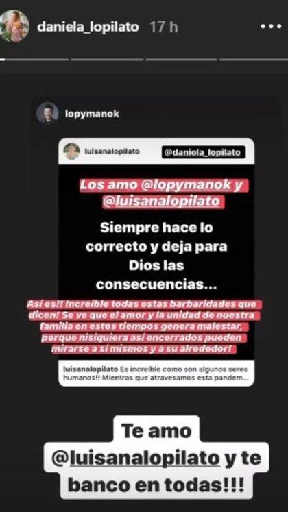 Daniela se refirió al comentario de su hermano (Foto: Instagram)