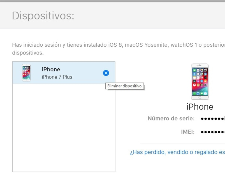 El iPhone se puede desvincular desde iCloud entrando al menú de configuración.