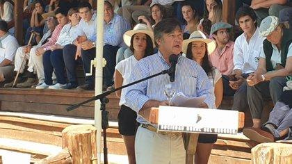Daniel Pelegrina, presidente de la Sociedad Rural Argentina.