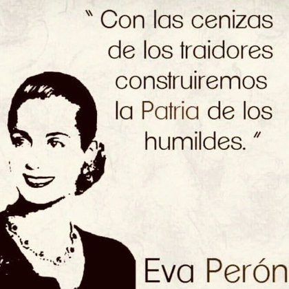 El mensaje de Evita que compartió la conductora (Twitter: @vivicanosaok)