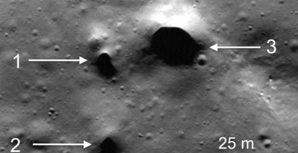 Los pozos detectados por la NASA