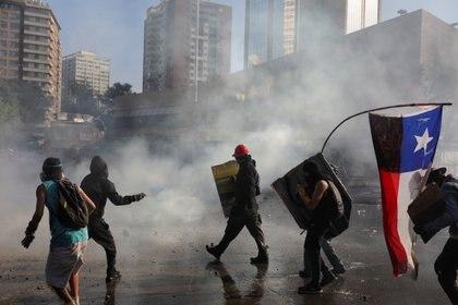 Disturbios en Chile durante la ola de protestas contra el Gobierno de Sebastián Piñera (REUTERS/Pablo Sanhueza)