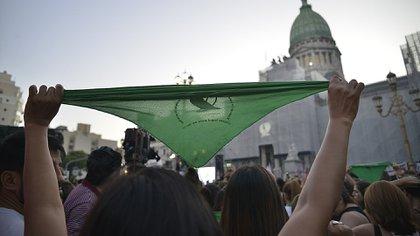 """La última marcha al Congreso fue el """"pañuelazo"""" del 19 de febrero (Gustavo Gavotti)"""