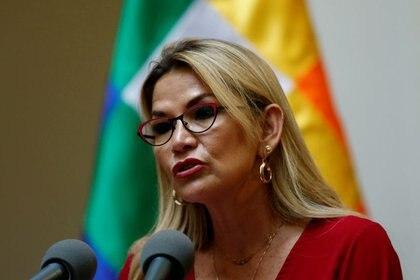 Jeanine Añez, presidenta interina de Bolivia (REUTERS/David Mercado)
